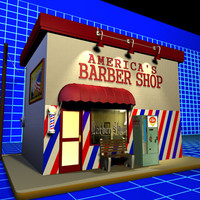 barber shop 3D models