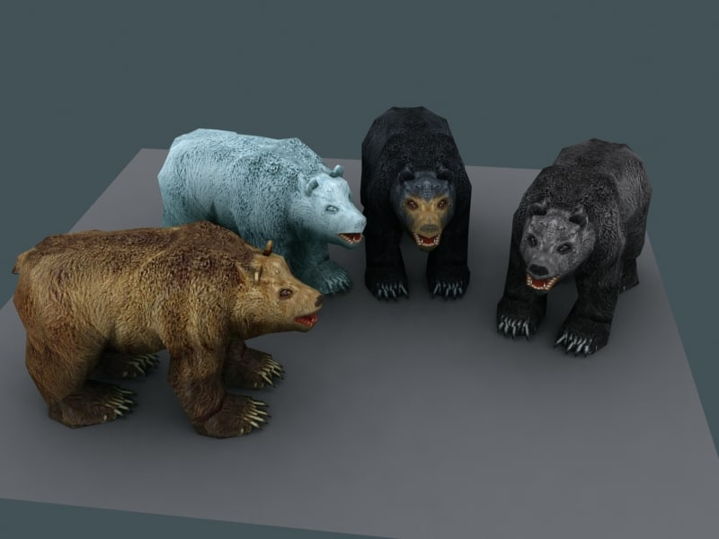Free Low poly Bears