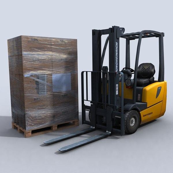 Forklift 2 3D Models
