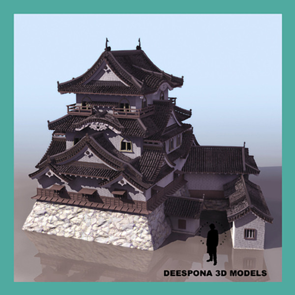 HIKONE JAPANESE MEIJI CASTLE 3D Models