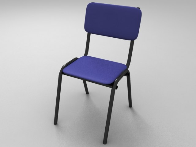 Student School Chair (High & Low Poly)