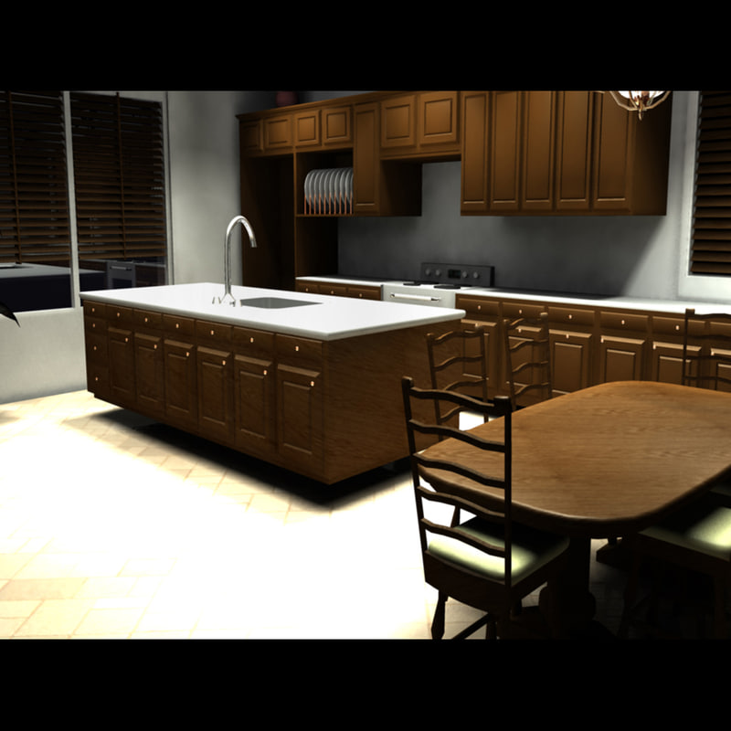 3d model kitchen for Model kitchen