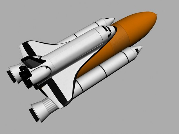 NASA Space shuttle and rockets 3D Models