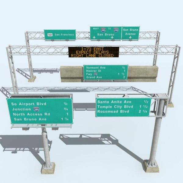 highway signs 3D Models