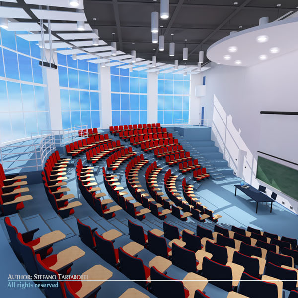 Lecture hall modern 3D Models