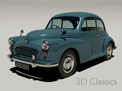 Morris Minor 3D Models