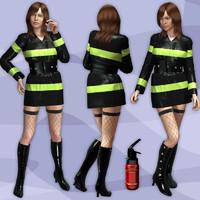 firefighter uniform 3D models
