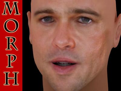 Brad Pitt acting 3D Models