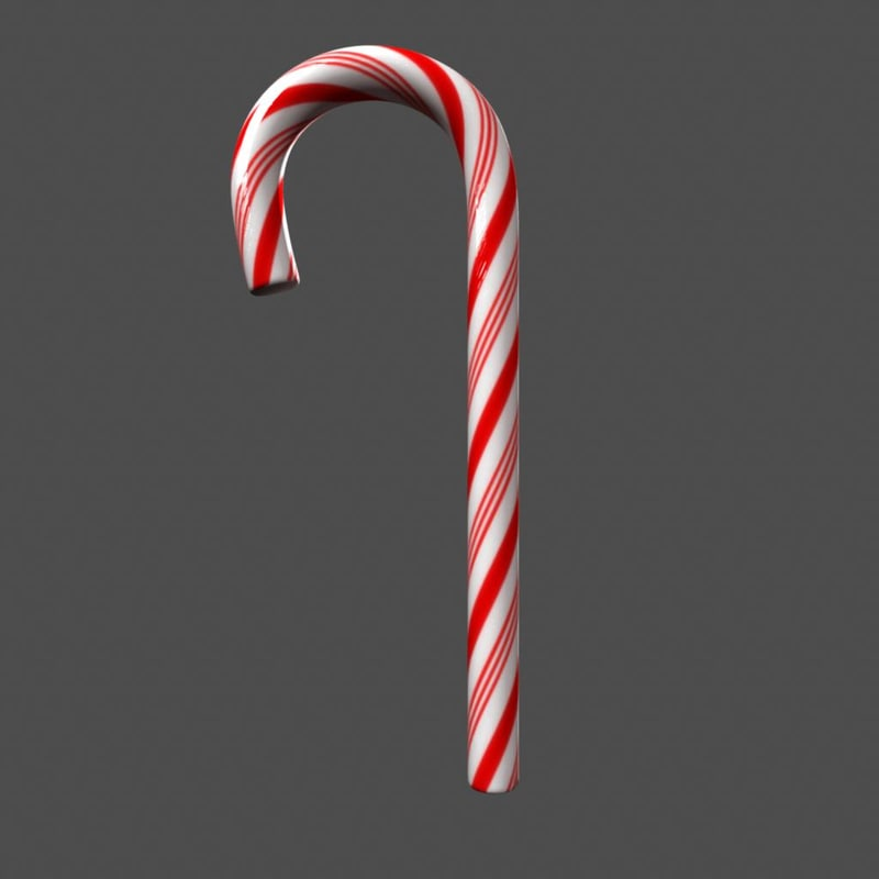 Candy Cane Model and Shader