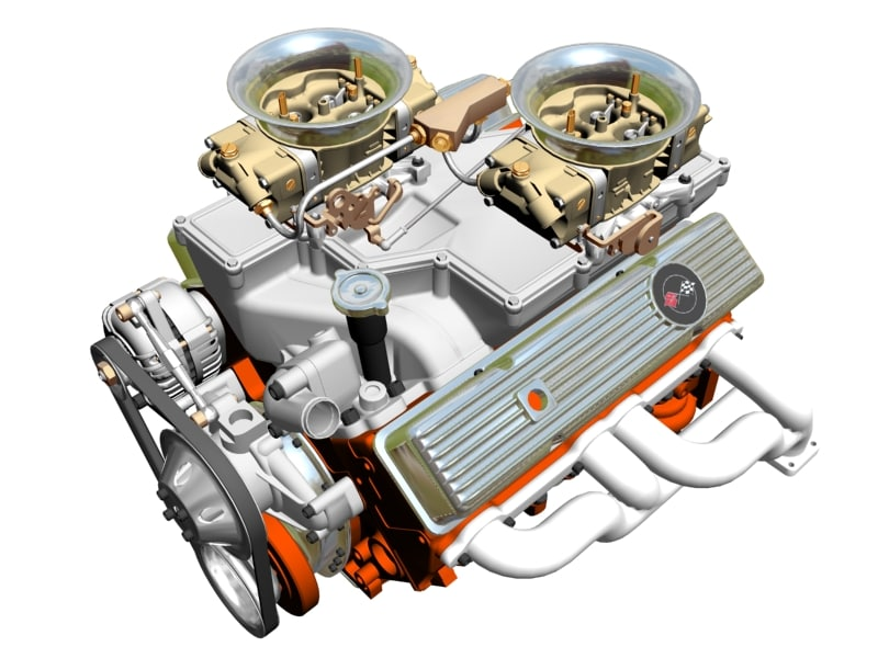V8 Engine Animated Gif cross-ram chevrolet v8 engine