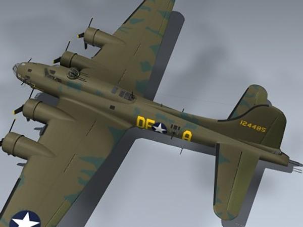 B-17F Flying Fortress (Memphis Belle) 3D Models