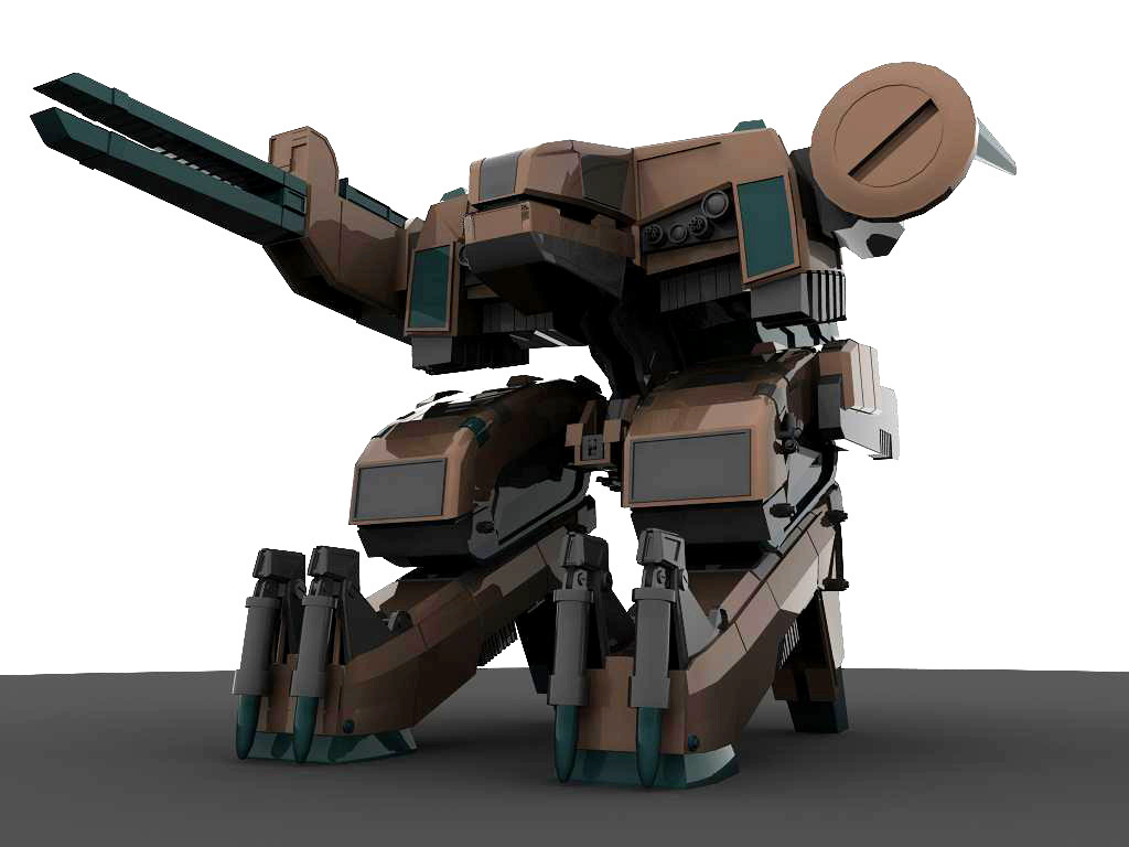 3d metal gear rex