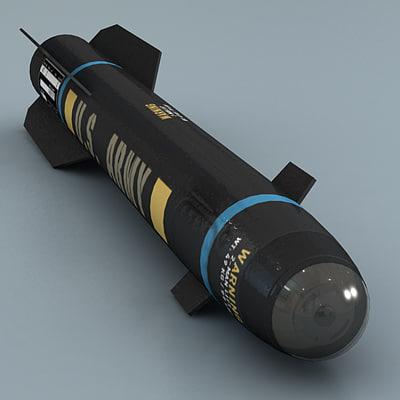 Hellfire Missile 3D Models