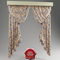 italian curtain 3D models