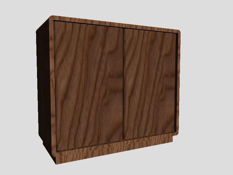 VHS/DVD Wood Floor Cabinet