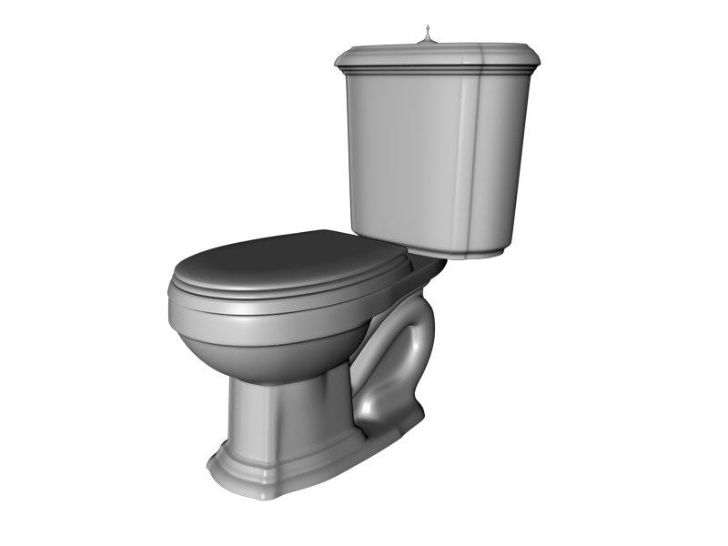 Kohler portrait toilet 3d model - Toilet model ...