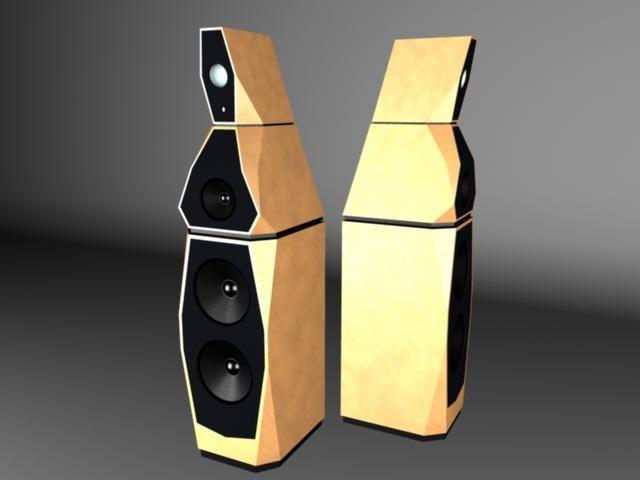 speakers avalon sentinel 3d model