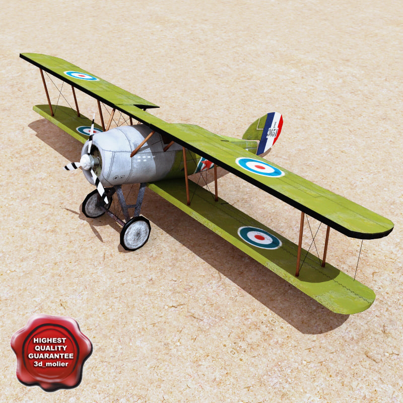 3d realistic biplane model