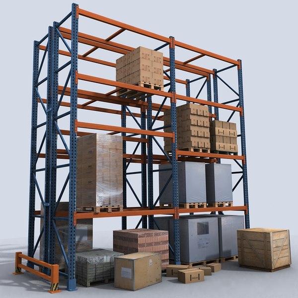 Pallet Rack 1 3D Models