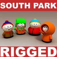 South Park Character 3D models