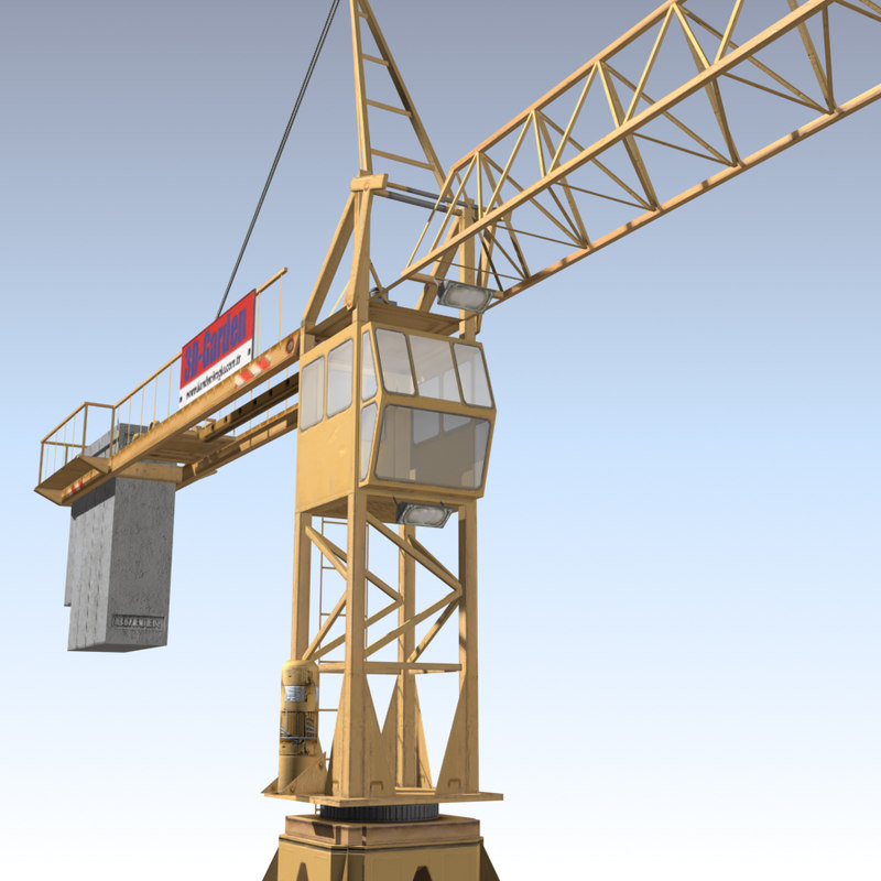 Tower Crane Engine : Tower crane d model