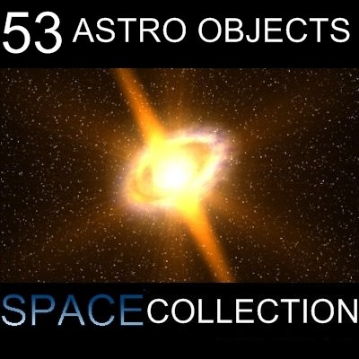 53 Objects Cosmos Pack 3D Models