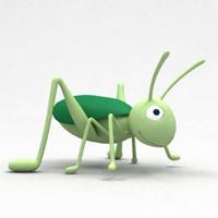cartoon grasshopper 3D models