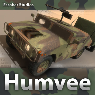 HMMWV (Humvee) Military 3D Models