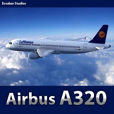 Airbus A320 Lufthansa 3D Models