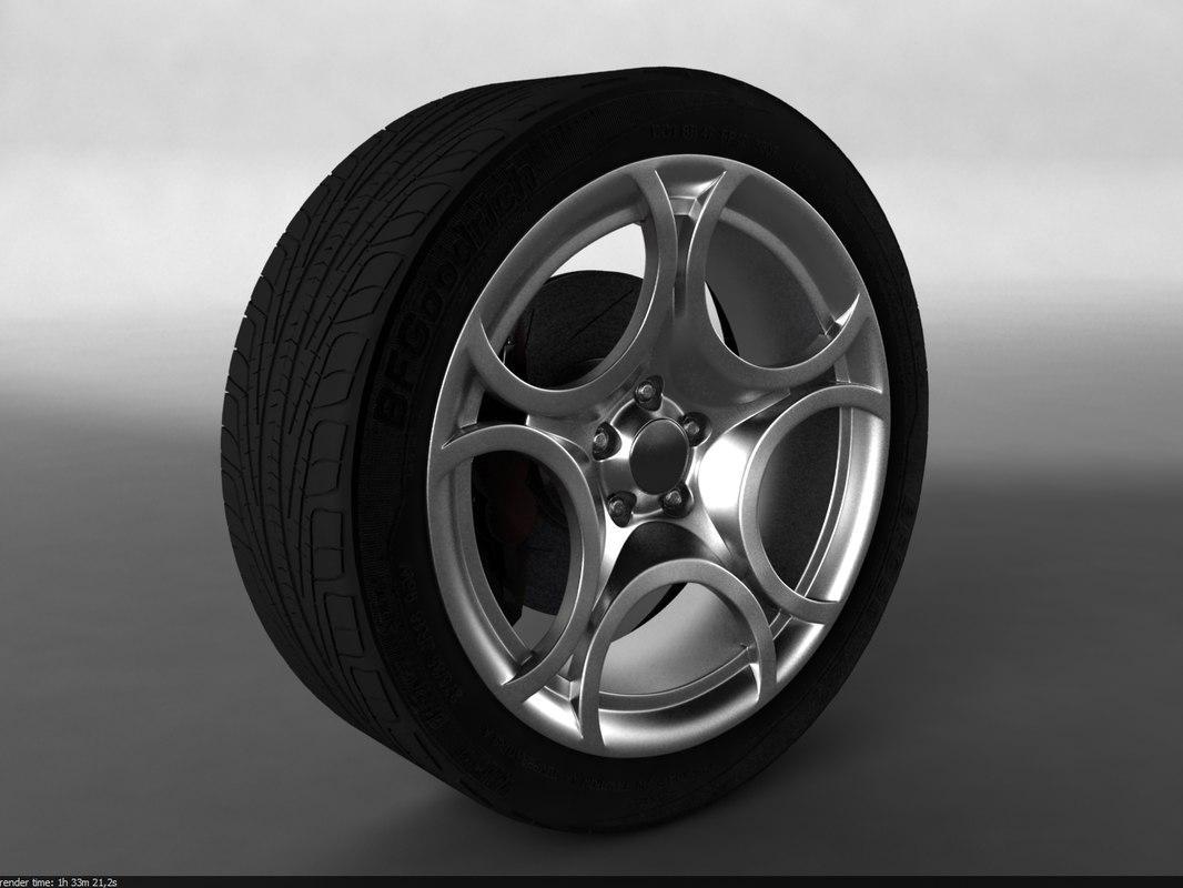Alfa Romeo MiTo Wheel + free V-Ray Studio