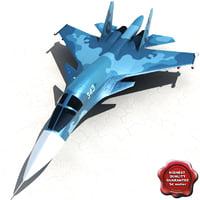 Su-34 3D models