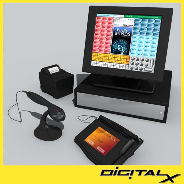touch screen register 3D Models
