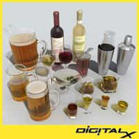 martini glass 3D models