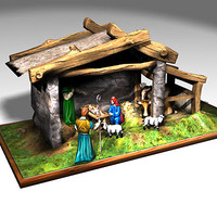Nativity Set 3D models