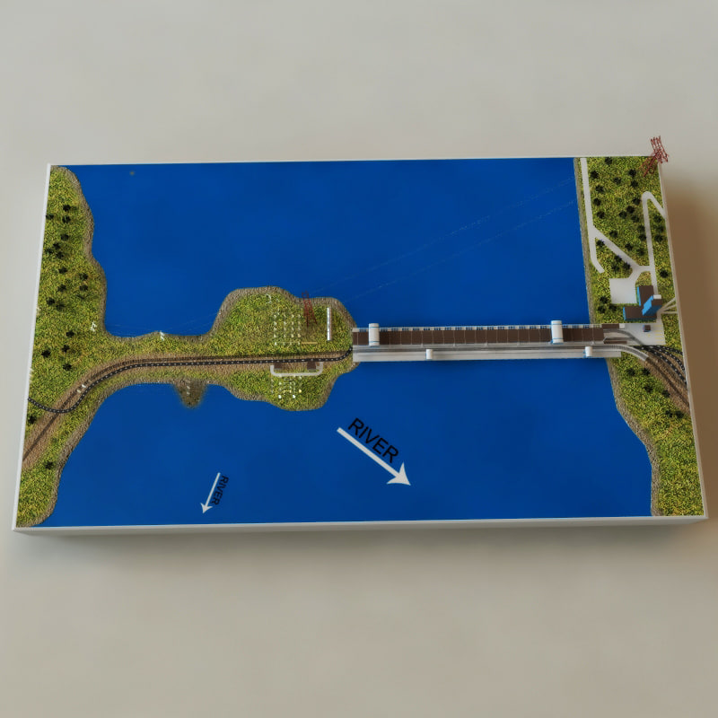 how to make hydro power plant model working
