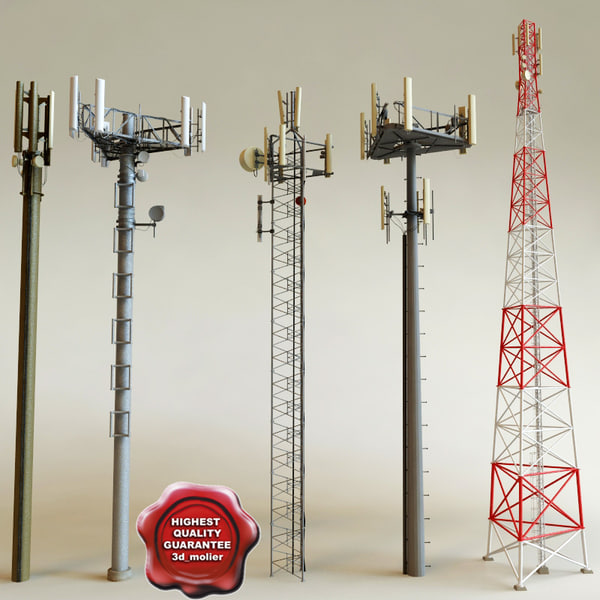 Telecommunication Towers collection 3D Models