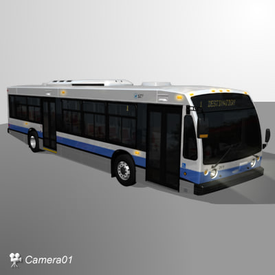 Nova LFS City Bus 3D Models