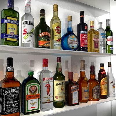 3d Bottles 3D Models