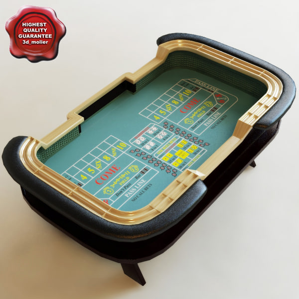 Craps Table 3D Models