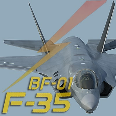 US  Air Force F-35 BF-1 Lightning II STOVL with USAF pilot 3D Models