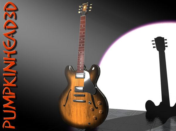 GIBSON ES 335.rar 3D Models