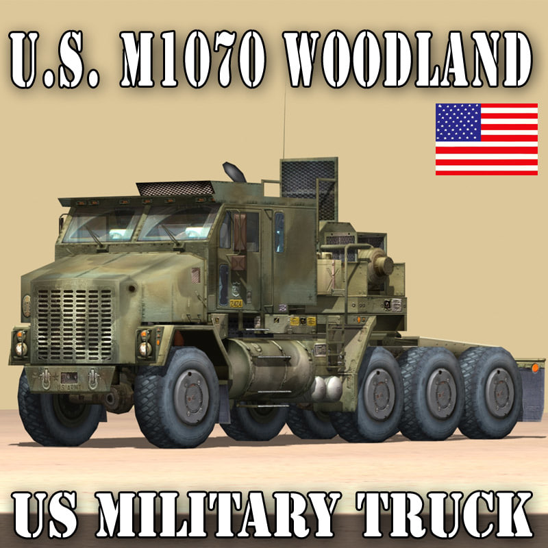 US MILITARY TRUCK–OSHKOSH M1070 HETS WOODLAND