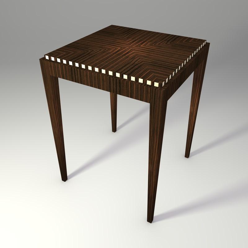 Art Deco Table 3d model