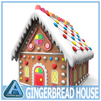 gingerbread house 3D models