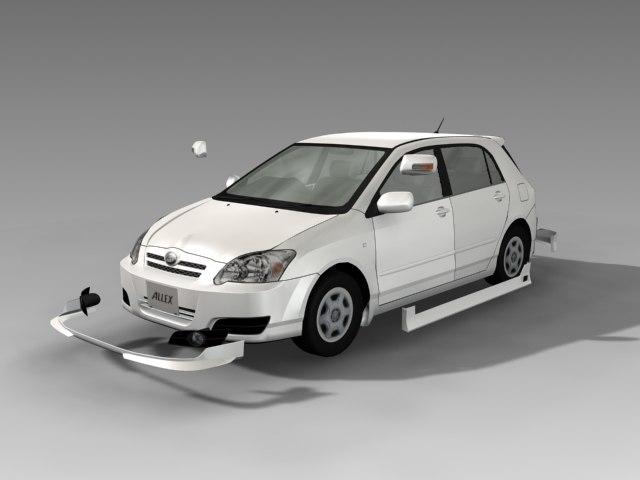Toyota car model set1