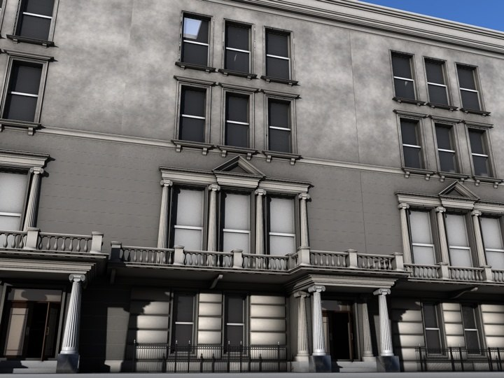 Embassy building 3d model for Consul building