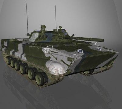 BMP-3 Russian APC next gen game ready model 3D Models