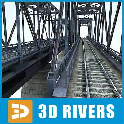 Reinforced concrete train bridge by 3DRivers Texture Maps