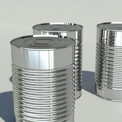 tin can 3D Models