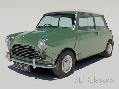 Morris Mini 3D Models